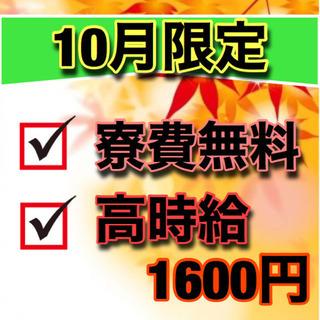 【No.38】10月限定特典!!寮費無料案件♪お早めにご応募ください☆