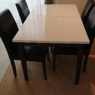 ダイニングテーブル  椅子4脚  値下げ