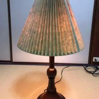 松本民芸家具 ランプ 黄緑、赤色