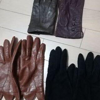 美品 本革 イタリア製 手袋 レザー セット