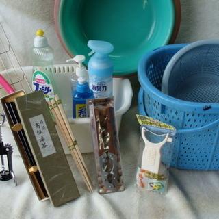 ☆★ 台所用品 いろいろ まとめて 洗いかごなど 箸は新品です。無料