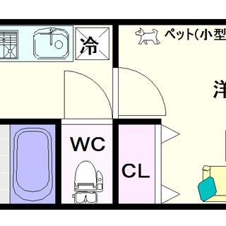 【ジアコスモ難波南】3号タイプ!1Kタイプ!分譲賃貸タイプなので...