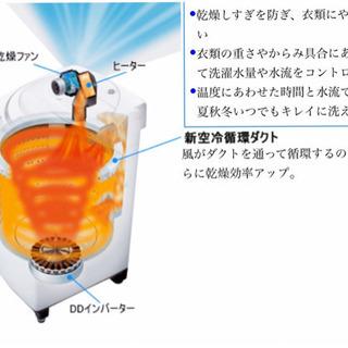 🚛配送無料🔰当日配送🎖7㌔🌟洗濯乾燥機インバーター銀河‼️ - 家電