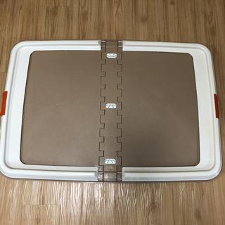 ペット用 トイレトレー ワイドサイズ 折り畳み式(中古品)