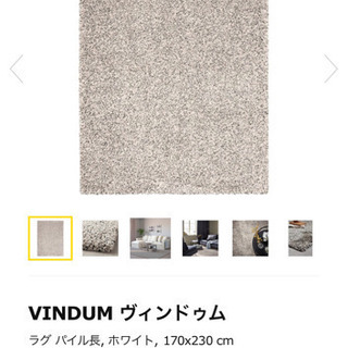 受け取り先決まりました。IKEA パイル長 ラグ 170×230...