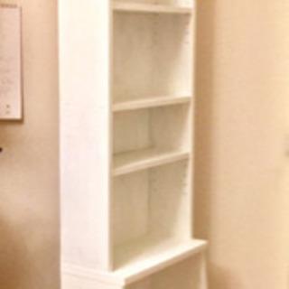 木製 本棚 フレンチカントリー シャビーホワイトペイント