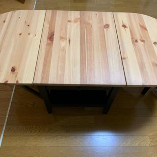 折りたたみ ローテーブル リビング IKEA 引き出し付き  ウ...