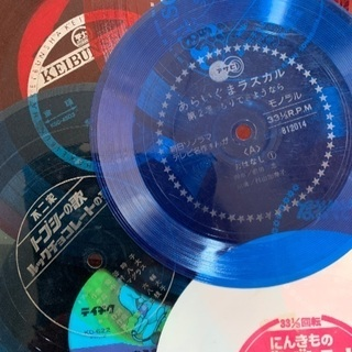 新品と中古のレコードセット