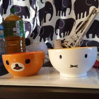 リラックマとミッフィーの丼茶碗