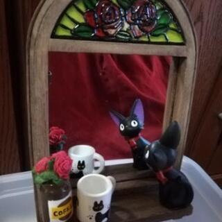 ジブリ🌲魔女の宅急便🎁黒猫のジジ鏡