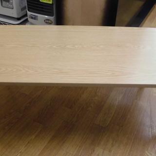木製 折りたたみテーブル ナチュラルブラウン 四角 幅90㎝ シ...