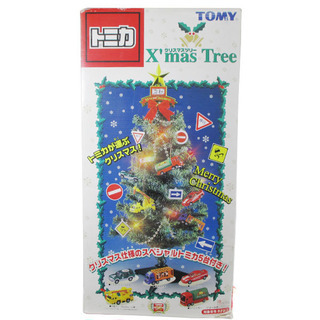 トミカ クリスマスツリー TOMY トミカ5台と電飾付