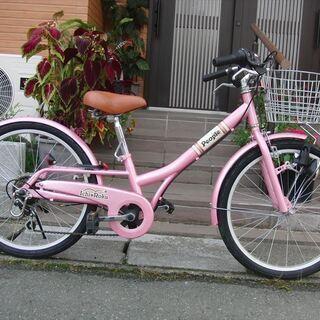 中古自転車 ★新品部品使用。女の子用 マウンテンタイプ 22イン...