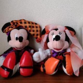 ハロウィーンversion ミッキー&ミニー ぬいぐるみ