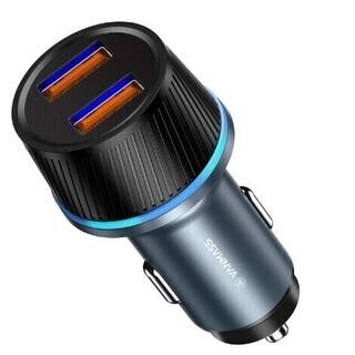 【新品・未使用】QC3.0*2ポート-39W急速充電 カーチャー...