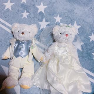 ウエディングベア 結婚式 飾り ぬいぐるみ
