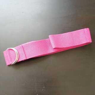 【11月4日まで値下げ】未使用ピンクのヨガベルト