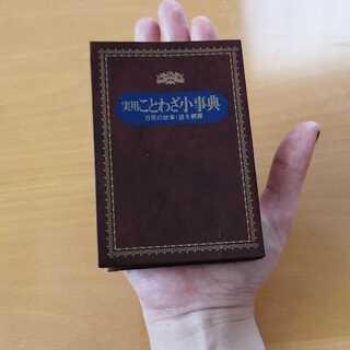【11月4日まで値下げ】手のひらサイズ 実用ことわざ小事典