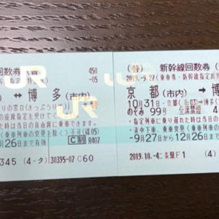 値段交渉有り!京都⇄博多 新幹線回数券