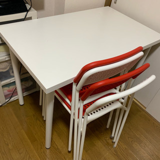 (無料) IKEA ダイニングテーブル 食卓 椅子4つ付き