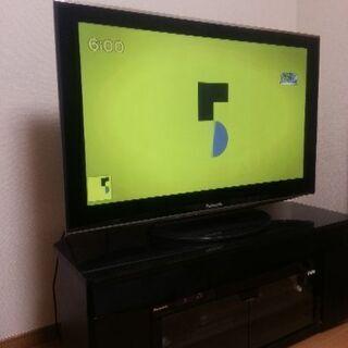 Panasonic 42型プラズマビエラ テレビ台とブルーレイレ...