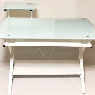 ガラス テーブル パソコンデスク PCデスク デスク ガラステーブル