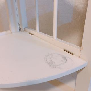 確定★ コーナー 飾り棚 2段棚 ホワイト 汚れあり