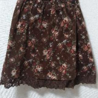 秋冬スカート 花柄