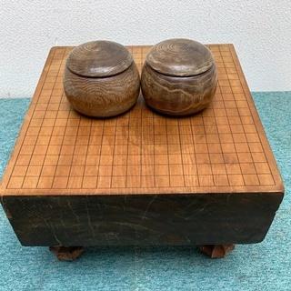 ⑦ 碁盤・碁石セット 囲碁ボードゲーム 厚13㎝