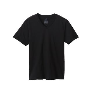 【ヘインズ】暑い日も寒い日も!X-TEMP/Vネックシャツ/ブラ...