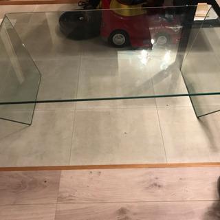 ※お値下げ!【硝子の曲線美】リビングテーブル / テーブル…