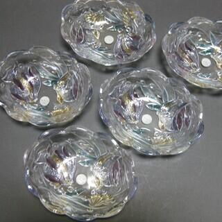 【値下げ】SOGA・ガラス製飾り皿5客セット・新品未使用