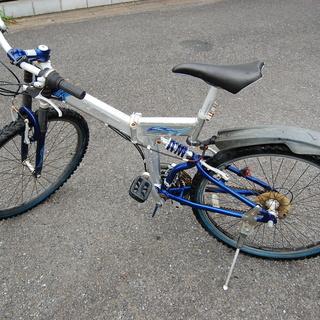 マウンテンバイク MTB 折りたたみ自転車 UGO Wアルミサス...