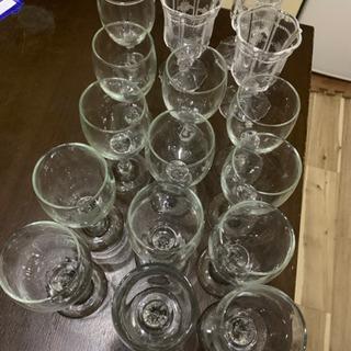 【グラス】★計16個!★小ワイングラス2種類