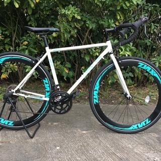 ロードバイク ZNX-7014 ホワイト 490mm