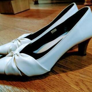 靴 レディース 白 24.5