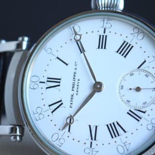1881年 パテックフィリップ懐中時計ムーブメント使用カスタム腕...