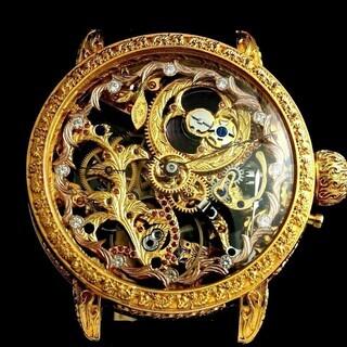 1908年 バセロンコンスタンチン懐中時計ムーブメント使用カスタ...