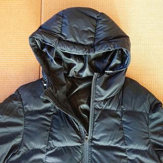 軽くて温かい★GU・フード付き中綿ジャケット/メンズSサイズ