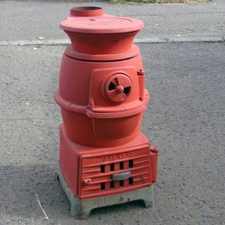 福禄/フクロク 石炭ストーブ 円型2号 鋳物 レトロ アンティー...