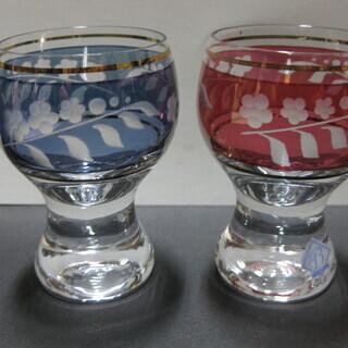 【値下げ】ラスカ・ボヘミアクリスタルガラス製・冷酒グラスペアセッ...