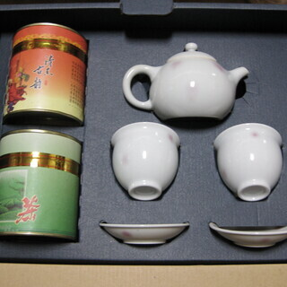 【値下げ】烏龍茶・飲茶セット2人用・焼き物