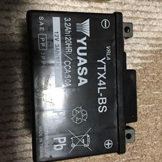 原付バッテリー YUASA YTX4L-BS 未使用