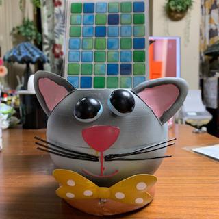 可愛いネコちゃん ブリキのプランターカバー