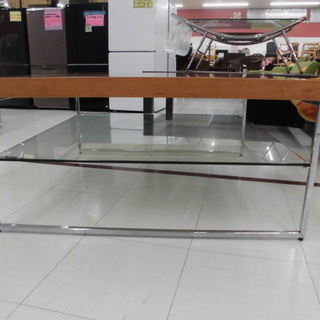 テーブル 四角形ローテーブル お洒落なテーブル ガラス付きテーブ...