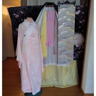 振り袖⑭、長襦袢、袋帯、小物セット - 服/ファッション