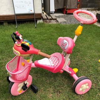 【中古】ミニーちゃん おしゃべりカーゴ 三輪車