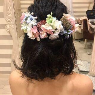 成人式の髪飾り(シルクフラワー)承ります!