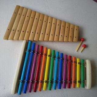 木琴、鉄琴セット