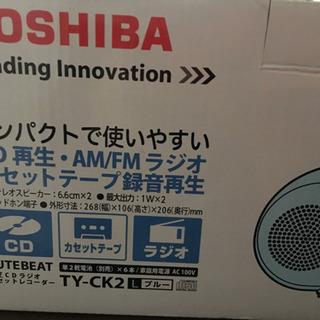 TOSHIBA CD ラジオ カセット再生